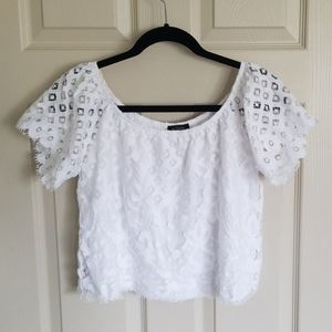 Small lace crop top